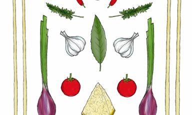 La ricetta di Aimo e Nadia Moroni è qui illustrata da Gianluca Biscalchin