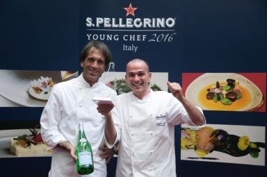 Rapisarda with Davide Oldani, who will be the Italian mentor