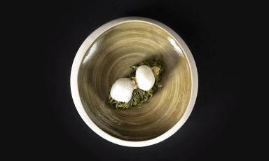 Tagliolini di grano arso, vongole, limone e sedano all'aceto di lampone: il piatto della rinascita di Antonio Guerra
