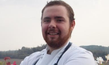Simone Tanzi, chef de partie del ristoranteMateriadi Cernobbio (Como)