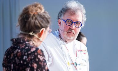 Francesco Ballico è stato tra i protagonisti di Pasticceria Italiana Contemporanea a Identità Milano 2019. Foto Brambilla-Serrani