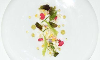 Insalatina di granchio reale, pompelmo, menta: la ricetta della rinascita di Lara e Claudio Pasquarelli