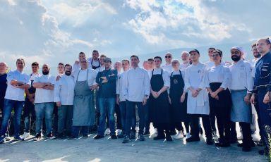 La compagine di cuochi che ha animato la sesta edizione del Mediterranean Cooking Congress e la sesta tappa dell'In The Kitchen Tour 2019 di Charming Italian Chef(fotoMarcello Giugno)