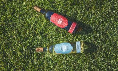 """I nuovi vini """"Fresco"""" diMasi: Bianco (uve garganega, chardonnay e pinot grigio) e Rosso (corvina e merlot)"""