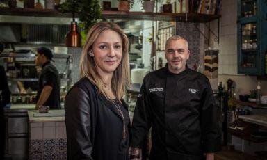 GiuliaandEduardo TuccilloofTwist - Kitchen and Tapas,42 Crawford Street, London, tel.+442077233377