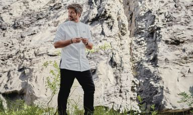 Sven Wassmer, 32, chef of the Memories restaurant at the Grand Resort Bad Ragaz, in the Swiss canton of St. Gallen, 2 Michelin stars and 18 Gault Millau points just 8 months after opening (Photo credit: Grand Resort Bad Ragaz)