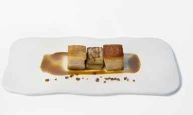 After having illustrated his dessert, Nicholas Bon