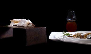 N'alice: il piatto del 2021 di Marco Claroni(foto di Adriano Marchesi)