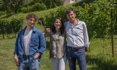 Albino Armani, a destra, con la moglie Egle e il figlio Federico
