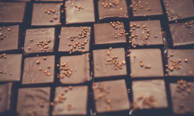 Le praline di Arte Dolce a Spilimbergo, patron Stefano Venier, gran gelatieree pasticcere con la passione per il cioccolato
