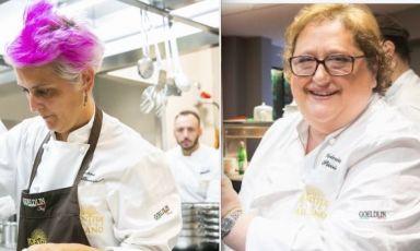 Cristina Bowerman e Valeria Piccini, chef e patron dei ristoranti Glass Hostaria di Roma e Da Caino a Montemerano (Grosseto)