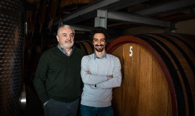Arturo e Nicola Rossi, padre e figlio, titolari della distilleria Rossi d'Angera, via Puccini 20 ad Angera (Varese), telefono +390331930248