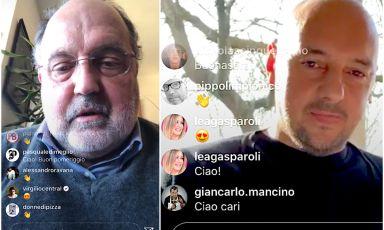 Paolo Marchi e Beppe Palmieri durante la loro diretta su InstagramTv. Domani, mercoledì 25 marzo, appuntamento con Enrico Bartolini, sempre alle ore 16