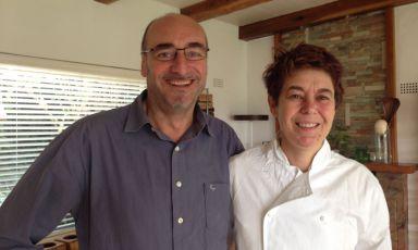 La chef Cristiana Ariotto e il maître Gianni Minori: sono loro gli artefici del successo de La Sostadi Swellendam, città di origini olandesi nel Western Cape, +27.(0)28.5141470