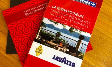 """La Guida Michelin 2015 """"I migliori ristoranti di Lombardia e Piemonte"""", un'edizione speciale non in vendita che Lavazza e Consorzio Tutela Grana Padano hanno presentato ieri a Identità ExpoS.Pellegrino"""
