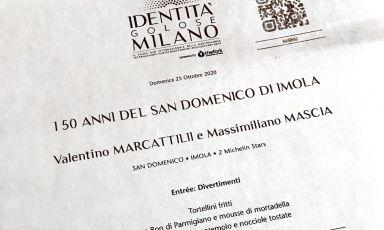 Il menu della straordinaria serata celebrativa, a Identità Golose Milano, dei 50 anni del San Domenico di Imola, attraverso i piatti che ne hanno scandito la storia