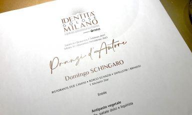 """Partito il programma dei """"pranzi d'autore"""" a Identità Golose Milano, il menu è firmato da Domingo Schingaro, una stella al Borgo Egnazia in Puglia. Appuntamenti ancora domenica 7, sabato 13 e domenica 14 febbraio, per prenotazioni clicca qui"""