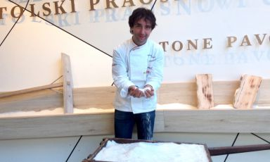 Tomaz Kavcic - chef at Pri Lojzetu in Zemono, half