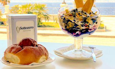 Una magnifica coppa di gelato con vista sullo stretto di Messina, alla CremeriaSottozero di Enzo Pennestrìa Reggio Calabria