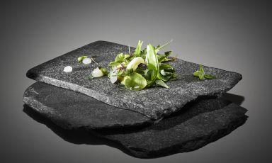 Insalata in verde dalle Apuane: il piatto del 2021 di Luca Landi(foto Marco Varoli)