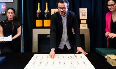 Christian Puglisi, premiato lunedì come Miglior chef internazionale dalla Guida di Identità Golose. Foto Brambilla/Serrani