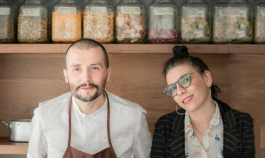 Mirko GattieSarah Pau, insieme guidano il ristorante Radici