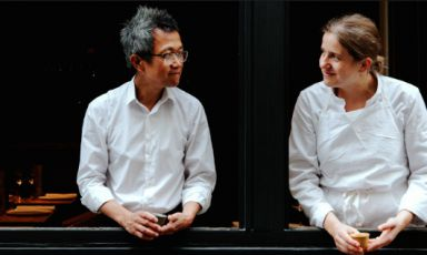 Chi Wah Chan from Hong Kong and French Adeline Grattard, husband and wife. Respectively maître/ tea sommelier and chef, have opened Yam'Tchain 2009 in the Les Halles area, in Paris. It's so successful you need to reserve long in advance (photo from Pinterest)