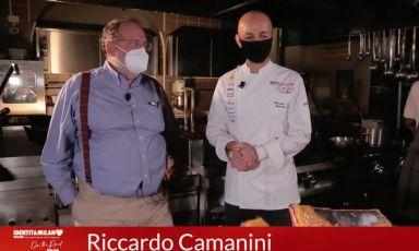 Riccardo CamaniniwithPaolo Marchiin a screenshot from the masterclass of the firstIdentità on the road, filmed atLido 84in Gardone Riviera (Brescia).CLICK HERE TO REGISTER AND VIEW IDENTITÀ ON THE ROAD. For infowrite toiscrizioni@identitagolose.itor call +39 02 48011841 ext. 2215