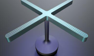 La lampadaRzerolight, frutto della partnership tra Caraibae Moodesign.L'oggetto è in grado disanificare la tavola e l'aria circostante.Per informazioni, telefono +390516166983 oppureinfo@caraiba.it