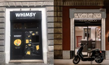 Whimsy Kitchen e Armonico Sushi, esempi milanesi rispettivamente di ghost restaurant con dark kitchen e bright kitchen