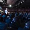 Massimo Bottura sul palco dell'Auditorium nel 2017