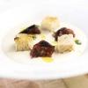 La Zuppa di Grana Padano con pomodori pelati e pane raffermo di Niko Romito, co-autore con Kenney della terza e ultima lezione di New York