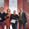 Tutti i premiati (come sempre under 40) nelle foto di Brambilla-Serrani: quiMartina Caruso(la migliore chef) premiata da Stefano Marini(San Pellegrino-Acqua Panna)
