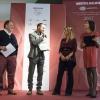 Diego Rossi(premiobirra in cucina) premiato da Ilaria Zaminga (Fondazione Birra Moretti)
