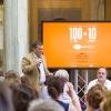 """La presentazione di """"100 chef x 10 anni"""": il microfono a Claudio Ceroni, patron MAGENTAbureau"""