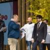 Paolo Marchi introduce l'executive chef di Identità Expo Andrea Ribaldone e il suo socio Salvatore Iandolino