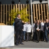 Claudio Ceroni ringrazia Daria Abbondi di Magenta Bureau e Claudio Scavizzi di Gentil, responsabili organizzativi di Identità Expo
