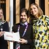 Sorpresa dell'anno: Cristian Torsiello, Osteria Arbustico, Valva (Sa), premiato da Anna Maschio di Bonaventura Maschio