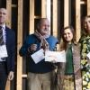 La migliore chef: Caterina Ceraudo, Dattilo, Strongoli (Kr), premiata da Alessandro Locatelli, Expo project manager per Acqua Panna S.Pellegrino