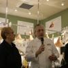 Lidia Bastianich, Davide Scabin e Paolo Marchi alla conferenza stampa di presentazione Identità New York 2010 nella Piazza di Eataly