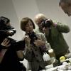 Elio Sironi durante la lezione sul palco della Sala Blu a Identità Golose 2011