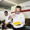 Il Risotto giallo allo zafferano, ortaggi e ristretto di vino di Elio Sironi