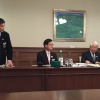 Siamo accolti nel quartier generale della prefettura di Hyogo dal governatore in persona, il signor Toshizo Ido (nella foto, a destra). «Volevamo ringraziarvi anche per la nostra formidabileesperienza all'Expo», ci ha detto
