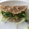 Taco di castagna, maiale, mela verde e maionese di ostriche di Luca Abbruzzino