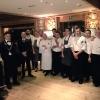 La brigata di sala e cucina della cena di Identità Cortina 2 al Rosapetra Resort