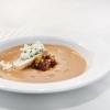 Zuppa di pomodoro, brunoise di verdure, crostino di pane con mizidra (Yiannis Loukakos)