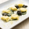 Fagotelli with Butter and Grana Padano with parsley sauce and Calvisius caviar by Heinz Beck