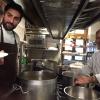 PROVA COTTURA. Felicetti, Gaspari e Favrin in cucina al Brite