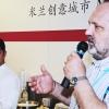 Paolo Marchi introduce Alessandro Procopio, della brigata di cucina del D'O a Cornaredo (Milano), a rappresentare lo chef Davide Oldani