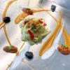 Linguine Gerardo di Nola con aglio, olio, peperoncino, baccalà e puttanesca